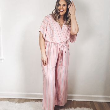 Hayden Striped Wide Leg Jumpsuit