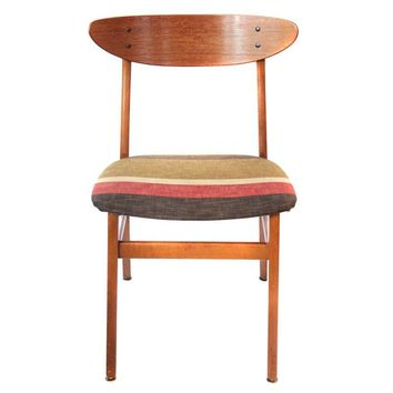 Pre-owned Mid-Century Modern Danish Teak Wood Accent Chair