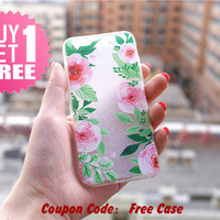 Flower Clear Phone Case Cover for iPhone 6 6s plus 6 6s 5s 5 4s 4 , Ctystal Clear iPhone 6 6s Case , Custom Clear iPhone 6 6s Case