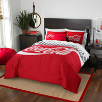 Coca-Cola Bottles  Twin-Full Comforter set with 2 Shams