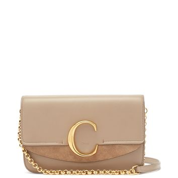 The C mini leather and suede cross-body bag | Chloé | MATCHESFASHION.COM US
