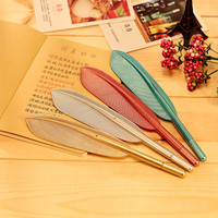 1 X novelty Feather gel pen stationery writing pens canetas material escolar office school supplies papelaria