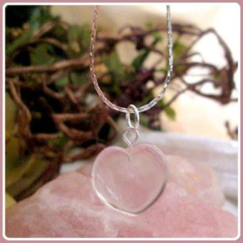 """Clarity & Wisdom"" Clear Quartz Heart Necklace"