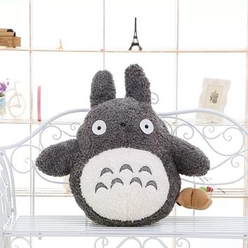 Free Shipping 35cm Soft Plush Toy Doll Cute Totoro Hayao Miyazaki Large Pillow Cushions Cartoon Doll Birthday Gift
