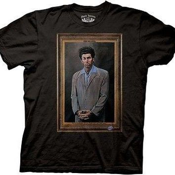 Seinfeld The Kramer TV Funny Cartoon Cotton Adult T Shirt