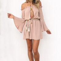 Buy Frill Shoulder Dress Online by SABO SKIRT