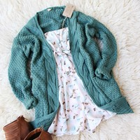 The Frosted Twig Sweater in Moss