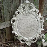 Ornate Memo Board Foam Pin Board Ornate Baroque Print Nursery Office Decor Decorative DistressedFRAME
