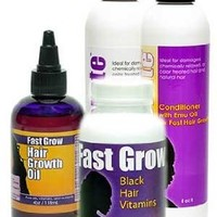 Grow Hair Longer with Fast Grow Black Hair Growth Vitamins, Emu Oil Shampoo, Conditioner and Fast Hair Growth Oil for Faster Growing Hair:Amazon:Health & Personal Care