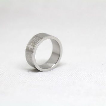 Free Engraving, Scripture Ring,promise ring,couple Rings, Lovers rings