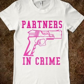 Supermarket: Partners In Crime BFF T-Shirt Set from Glamfoxx Shirts