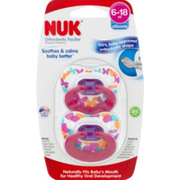 Nuk Orthodontic Pacifier 18-36m - 2 CT - Walmart.com