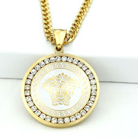 Gold HDQ Medusa Necklace