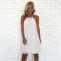 Two Is Better Than One Dress In White