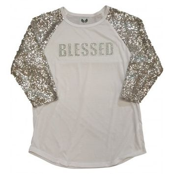 Blessed sequin raglan from PeaceLove&Jewels
