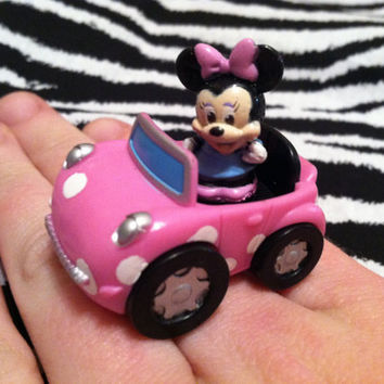 Cruisin' with Minnie Mouse Ring by MegEMays on Etsy