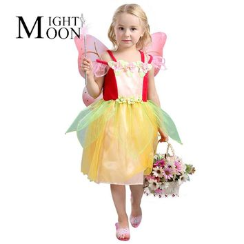 MOONIGHT Halloween Costume Fairy Costume Elf Dress Flower Fairy Cosplay Costumes