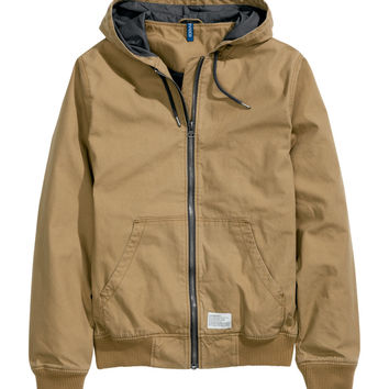 H&M - Hooded Jacket - Beige - Men