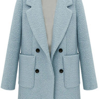 Double-Breasted Worsted Coat