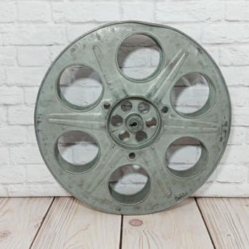 Vintage Large Metal Industrial Film Reel