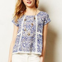 Flores Tee by Meadow Rue Blue Motif M P Apparel