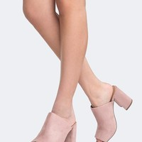 High Heel Open Toe Mule