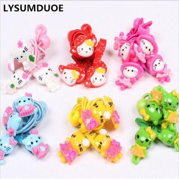 LYSUMDUOE New Hello Kitty Hair Accessories Princess Headband Kids Hair Clip Elastic hair Bands Headbands Kawaii Hairpin For Girl