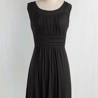 Mid-length Sleeveless A-line I Love Your Dress in Black