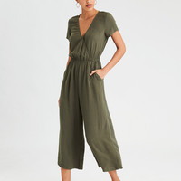 AE Easy Culotte Jumpsuit, Olive