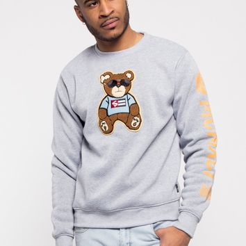 Chenille Bear Patch Fleece Crewneck