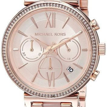 ONETOW Michael Kors Watches Womens Sofie Rose Gold-Tone Watch