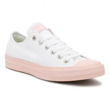 Converse All Star Chuck Taylor II Womens Ox White/Vapour Pink Trainers