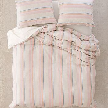 Desert Stripes Yarn-Dye Duvet Cover | Urban Outfitters