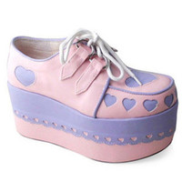 Punk gothic lolita cosplay shoes 1234--7