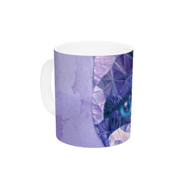 "Ancello ""Cute Kitten"" Purple Cat Ceramic Coffee Mug"
