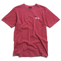 Global Designs Pigment Dyed T-Shirt Burgundy