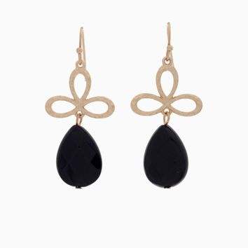 Black Gold Teardrop Earring