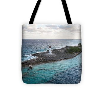 Hog Island Lighthouse - Tote Bag