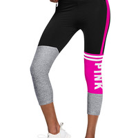 Ultimate Bonded Crop Legging - PINK - Victoria's Secret