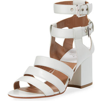 Laurence Dacade Rela Strappy Leather Block-Heel Sandal