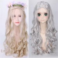 Women Game of Thrones Cosplay Daenerys Targaryen Wig 80CM Daenerys Stormborn Headwear Dany Halloween Christmas Party lady wig