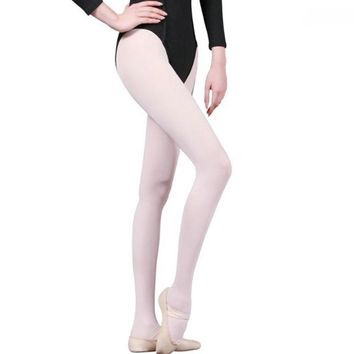 2018 Womens and Girls Professional White Velvet Professional Ballet Tap Dance Tights  Dedicated Gymnastics Pantyhose Stockings