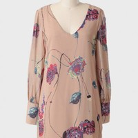 floral canvas printed dress at ShopRuche.com
