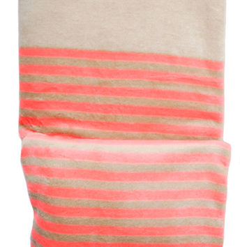 Neon Stripe Fleece Blanket