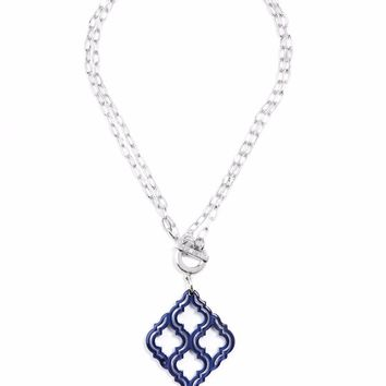 ZENZII Imperial Lattice Pendant Necklace