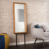 Holly & Martin Sawa Leaning Mirror - Weathered Gray
