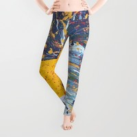 """mista roosta""  Rooster Rooster Leggings by Jennifer Pennacchio"