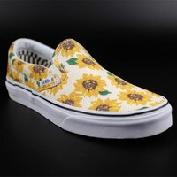 Vans Slip-On Sunflower Chrysanthemum Printing Sneaker