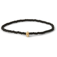 Luis Morais - Gold and Glass Bead Skull Bracelet | MR PORTER