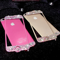 Handmade iPhone 6 6s Plus Toughened Glass Screen Protector with Diamond